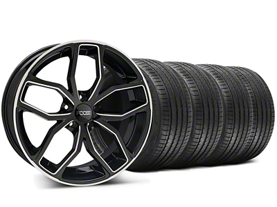Foose Staggered Outcast Black Machined Wheel & Sumitomo Tire Kit - 20x8.5/10 (05-14 All)