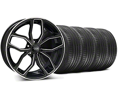 Foose Staggered Outcast Black Machined Wheel & Sumitomo Tire Kit - 20x8.5/10 (05-14)