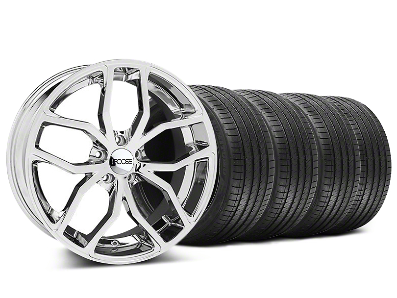 Foose Staggered Outcast Chrome Wheel & Sumitomo Tire Kit - 20x8.5/10 (05-14 All)