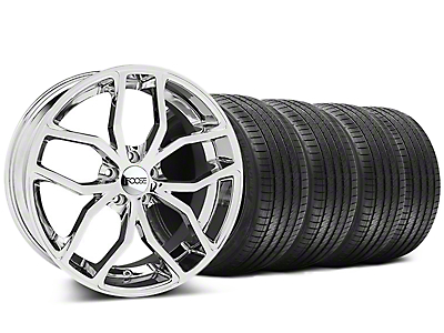 Staggered Chrome Foose Outcast Wheel & Sumitomo Tire Kit - 20x8.5/10 (05-14)