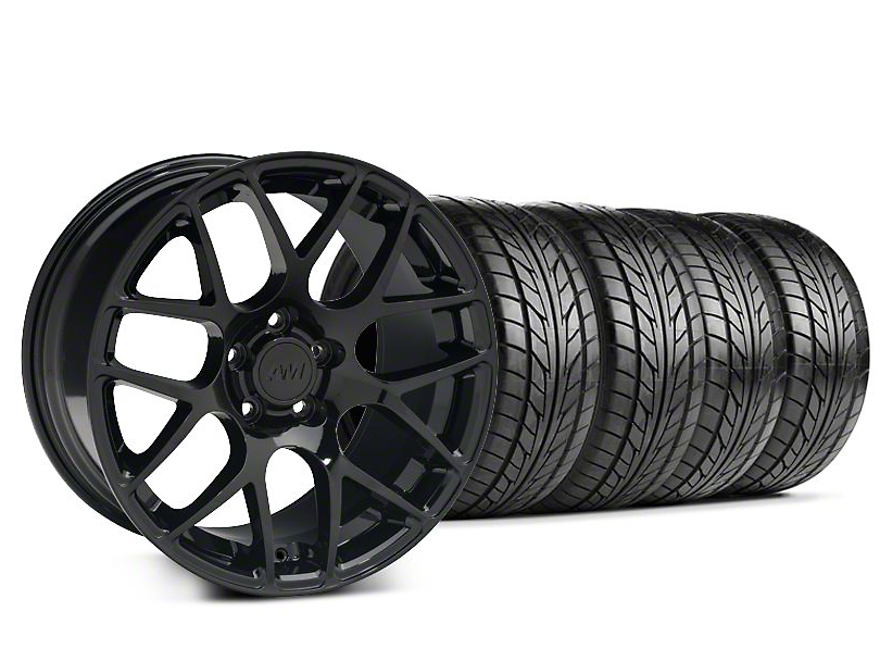 Staggered AMR Black Wheel & NITTO Tire Kit - 20x8.5/10 (05-14 All)