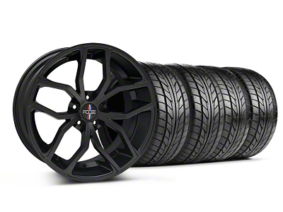 Foose Staggered Outcast Matte Black Wheel & NITTO Tire Kit - 20x8.5/10 (05-14 All)