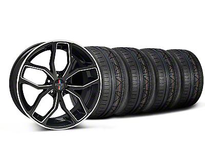 Staggered Black Machined Foose Outcast Wheel & NITTO Tire Kit - 20x8.5/10 (05-14)