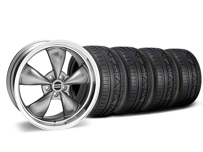 Staggered Deep Dish Bullitt Anthracite Wheel & NITTO INVO Tire Kit - 20x8.5/10 (05-14 V6; 05-10 GT)