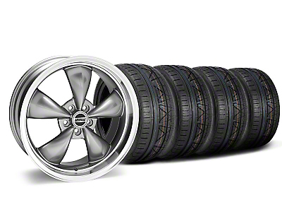 Staggered Deep Dish Bullitt Anthracite Wheel & NITTO INVO Tire Kit - 20x8.5/10 (05-14 GT, V6)