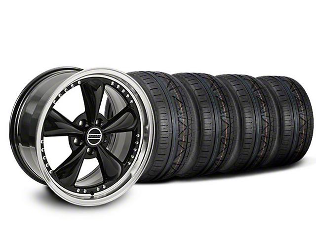 Staggered Bullitt Motorsport Black Wheel & NITTO INVO Tire Kit - 20x8.5/10 (05-14 V6; 05-10 GT)