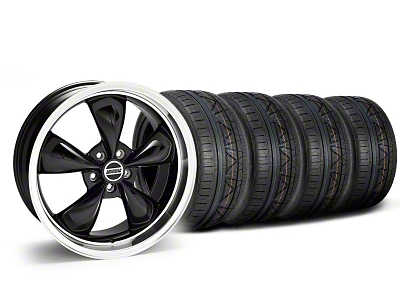 Staggered Deep Dish Bullitt Black Wheel & NITTO INVO Tire Kit - 20x8.5/10 (05-14 V6; 05-10 GT)