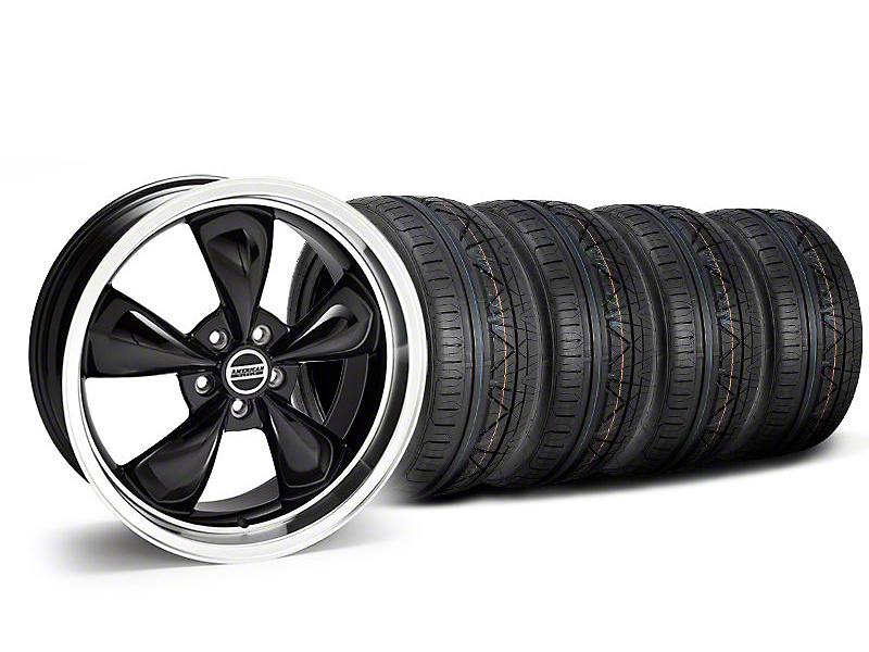Staggered Deep Dish Bullitt Black Wheel & NITTO INVO Tire Kit - 20x8.5/10 (05-14 V6; 05-10 GT)
