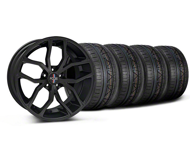 Foose Staggered Outcast Matte Black Wheel & NITTO INVO Tire Kit - 20x8.5/10 (05-14 All)