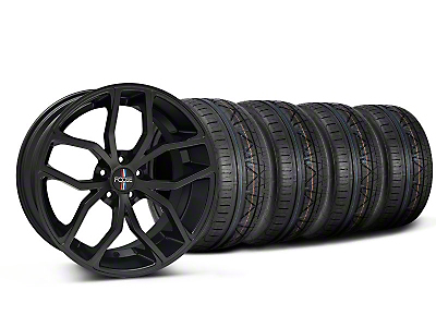 Staggered Matte Black Foose Outcast Wheel & NITTO INVO Tire Kit - 20x8.5/10 (05-14)