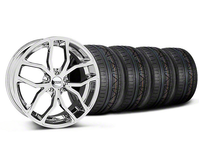Foose Staggered Outcast Chrome Wheel & NITTO INVO Tire Kit - 20x8.5/10 (05-14 All)