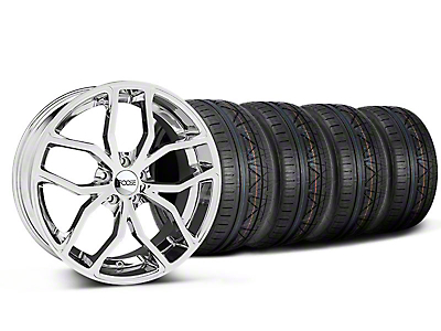 Foose Staggered Outcast Chrome Wheel & NITTO INVO Tire Kit - 20x8.5/10 (05-14)