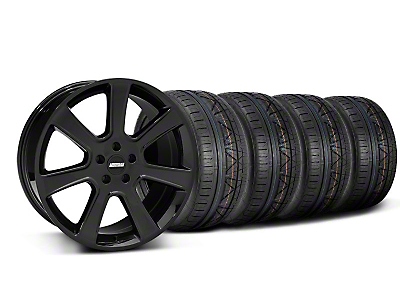 Staggered S197 Saleen Style Black Wheel & NITTO INVO Tire Kit - 20x9/10 (05-14 All)