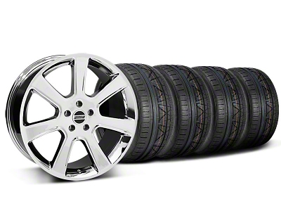 Staggered S197 Saleen Style Chrome Wheel & NITTO INVO Tire Kit - 20x9/10 (05-14 All)