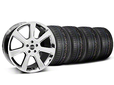 Staggered Chrome S197 Saleen Style Wheel & NITTO INVO Tire Kit - 20x9/10 (05-14 All)