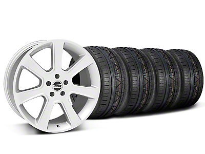 Staggered Silver S197 Saleen Style Wheel & NITTO INVO Tire Kit - 20x9/10 (05-14 All)