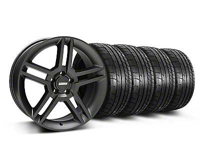 Staggered 2010 GT500 Matte Black Wheel & Mickey Thompson Tire Kit - 19x8.5/10 (05-14 All)