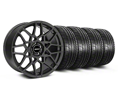 Staggered 2013 GT500 Charcoal Wheel & Mickey Thompson Tire Kit - 19x8.5/10 (05-14 GT, V6)