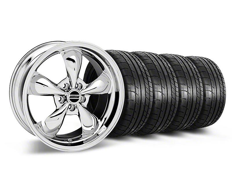 Staggered Deep Dish Bullitt Chrome Wheel & Mickey Thompson Tire Kit - 19x8.5/10 (05-14 GT, V6)