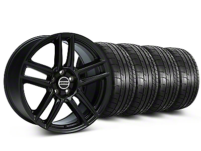 Staggered Boss Laguna Seca Black Wheel & Mickey Thompson Tire Kit - 19x9/10 (05-14 All)