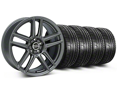 Staggered Boss Laguna Seca Charcoal Wheel & Mickey Thompson Tire Kit - 19x9/10 (05-14 All)