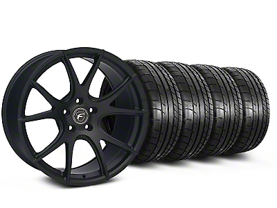 Forgestar Staggered CF5V Monoblock Matte Black Wheel & Mickey Thompson Tire Kit - 19x9/10 (05-14 All)
