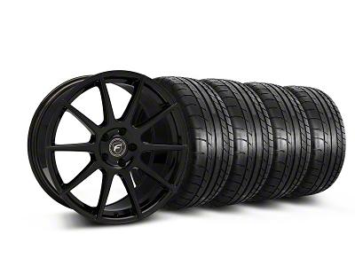 Forgestar Staggered CF10 Monoblock Piano Black Wheel & Mickey Thompson Tire Kit - 19x9/10 (05-14 All)