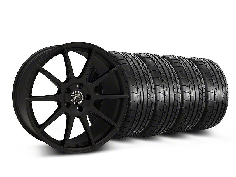 Forgestar Staggered CF10 Monoblock Textured Black Wheel & Mickey Thompson Tire Kit - 19x9/10 (05-14 All)
