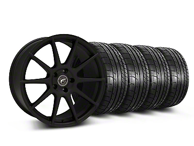 Forgestar Staggered CF10 Monoblock Textured Black Wheel & Mickey Thompson Tire Kit - 19x9/10 (05-14 All)