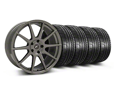Staggered Forgestar CF10 Monoblock Gunmetal Wheel & Mickey Thompson Tire Kit - 19x9/10 (05-14 All)