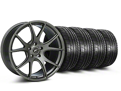 Forgestar Staggered CF5V Monoblock Gunmetal Wheel & Mickey Thompson Tire Kit - 19x9/10 (05-14 All)