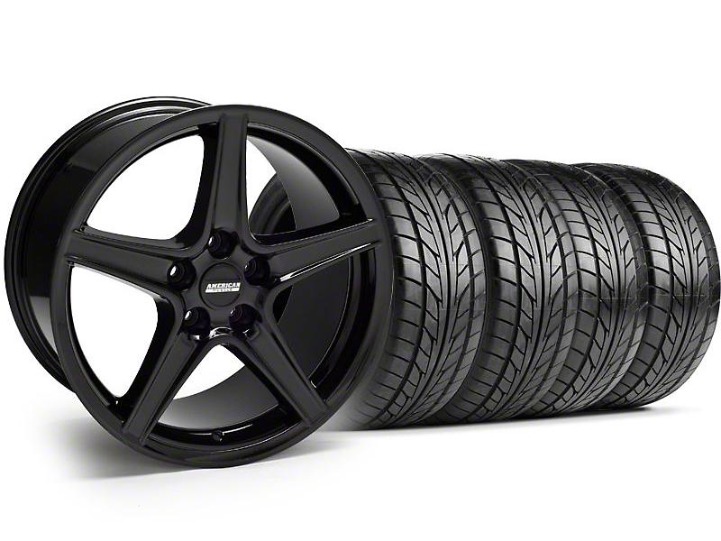 Saleen Style Black Wheel & NITTO Tire Kit - 17x9 (94-98 All)