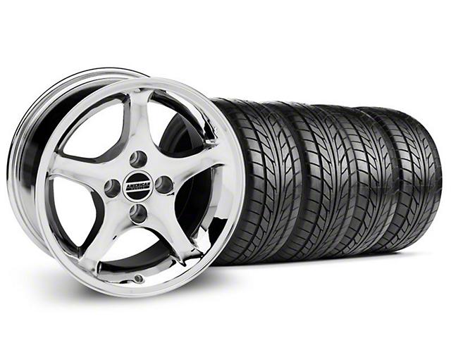 1995 Cobra R Style Chrome Wheel & NITTO Tire Kit - 17x9 (94-98 All)