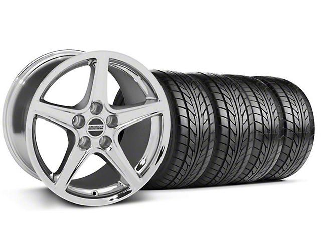 Saleen Style Chrome Wheel & NITTO Tire Kit - 17x9 (94-98 All)