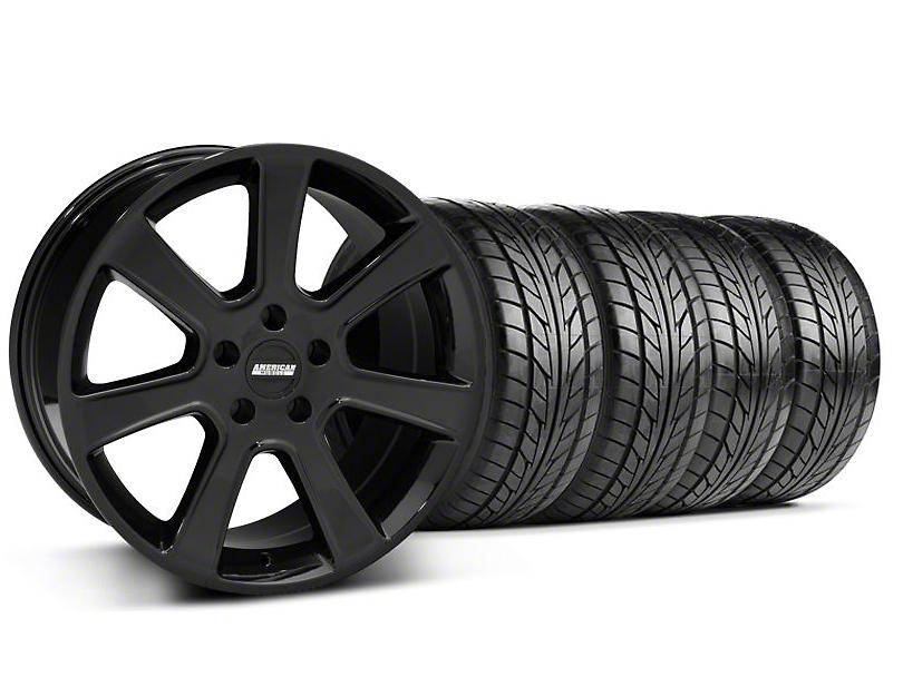 Saleen Style Black Wheel & NITTO NT555 Tire Kit - 17x9 (94-98 All)