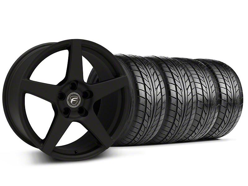 Forgestar CF5 Monoblock Textured Black Wheel & NITTO Tire Kit - 18x9 (94-98 All)