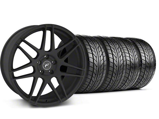 Forgestar F14 Monoblock Textured Black Wheel & NITTO Tire Kit - 18x9 (94-98)