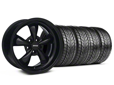 Staggered Bullitt Solid Black Wheel & NITTO Tire Kit - 18x9/10 (99-04 All)