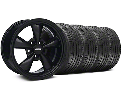 Staggered Solid Black Bullitt Wheel & Sumitomo Tire Kit 18x9/10 (99-04 All)