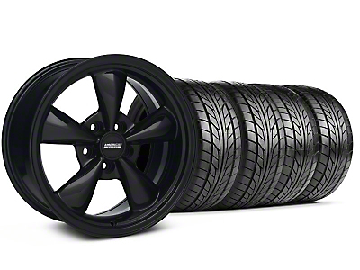 Bullitt Solid Black Wheel & NITTO Tire Kit - 18x8 (99-04 All)