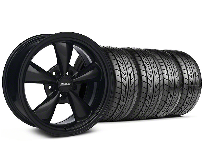 Bullit Solid Black Wheel & NITTO Tire Kit - 18x9 (94-98 All)