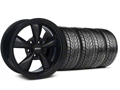 Bullitt Solid Black Wheel & NITTO Tire Kit - 18x9 (99-04 All)