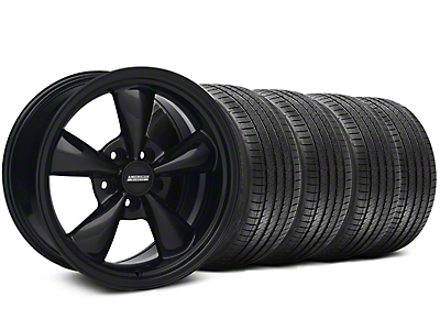 Solid Black Bullitt Wheel & Sumitomo Tire Kit 18x9 (99-04 All)