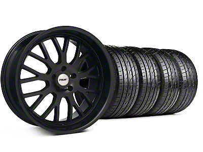 TSW Staggered Tremblant Matte Black Wheel & Sumitomo Tire Kit - 20x8.5/10 (05-13)