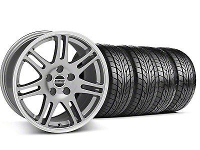 Staggered 10th Anniversary Cobra Style Anthracite Wheel & NITTO Tire Kit - 17x9/10.5 (99-04 All)