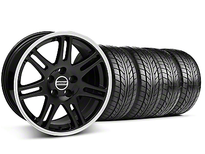 Staggered 10th Anniversary Cobra Black Wheel & NITTO Tire Kit - 17x9/10.5 (99-04 All)