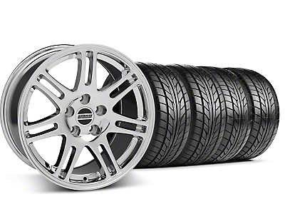 Staggered 10th Anniversary Cobra Style Chrome Wheel & NITTO Tire Kit - 17x9/10.5 (99-04 All)