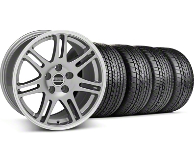 Staggered 10th Anniversary Cobra Style Anthracite Wheel & Sumitomo Tire Kit - 17x9/10.5 (99-04 All)
