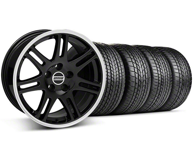 Staggered 10th Anniversary Cobra Style Black Wheel & Sumitomo Tire Kit - 17x9/10.5 (99-04 All)