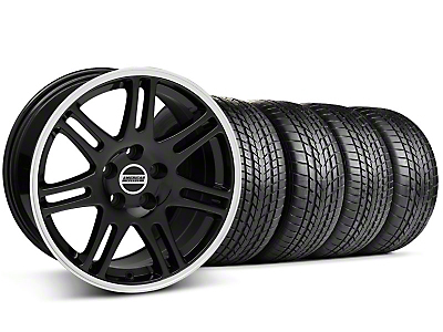 Staggered 10th Anniversary Cobra Black Wheel & Sumitomo Tire Kit - 17x9/10.5 (99-04 All)